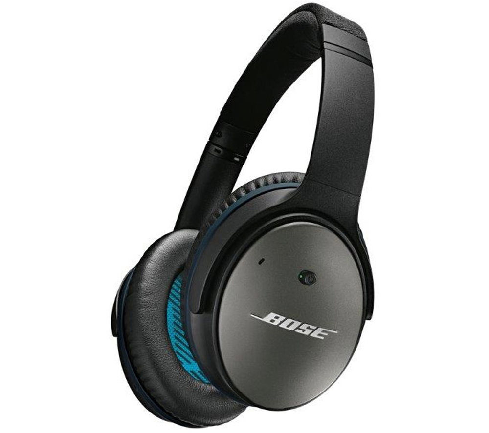 BOSE QuietComfort 25 Noise-Cancelling Headphones - Black (text duplicated)