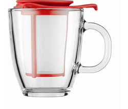 BODUM Yo Yo Mug & Tea Strainer Set - Red