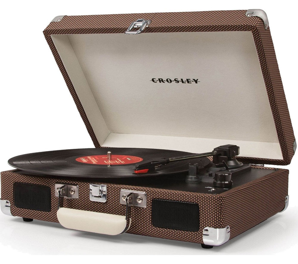 Click to view more of CROSLEY  Cruiser Portable Turntable - Tweed