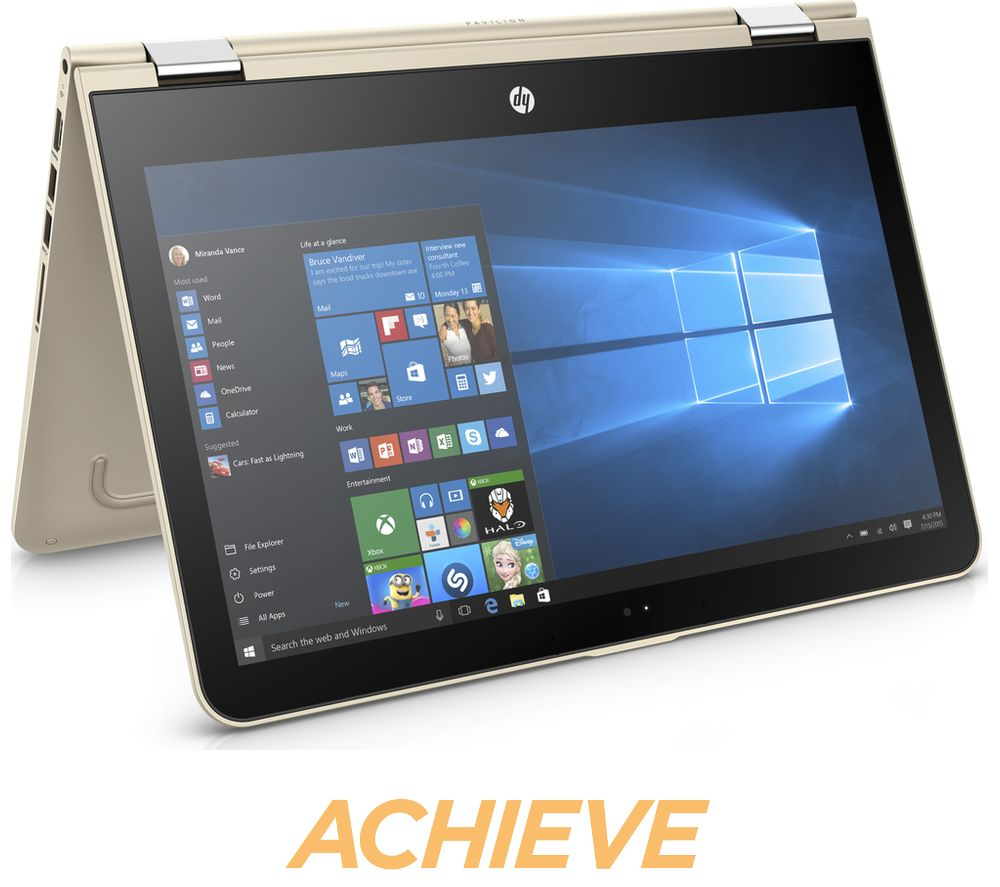 buy hp pavilion x360 13 u062sa 13 3 2 in 1 gold free delivery currys. Black Bedroom Furniture Sets. Home Design Ideas