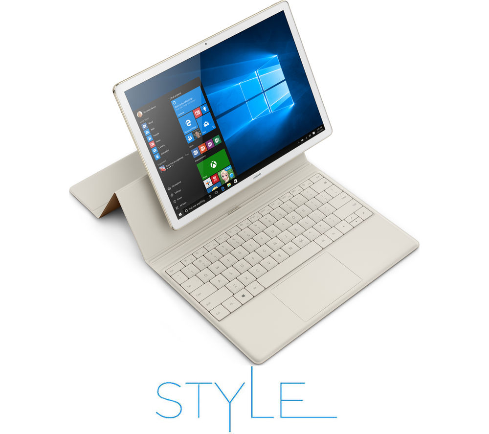 "HUAWEI MateBook 12"" 2 in 1 - White & Champagne Gold + Office 365 Personal + LiveSafe Unlimited 2017 - 1 year"