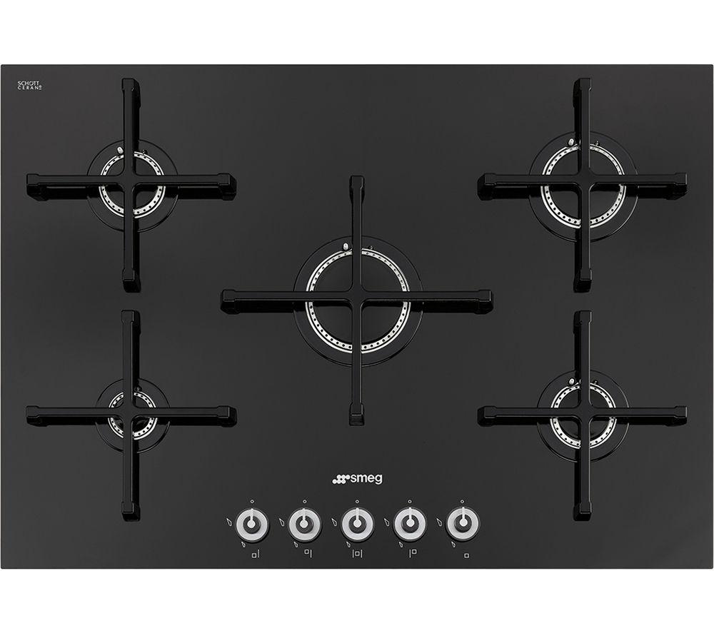 SMEG Linea PV175CN Gas Hob - Black