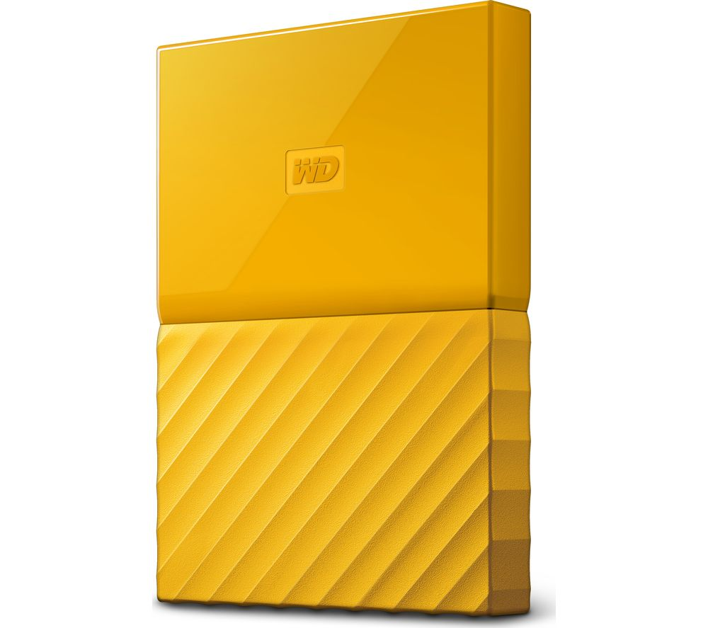 WD My Passport Portable Hard Drive - 1 TB, Yellow