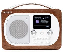 PURE Evoke H4 Portable DAB/FM Bluetooth Clock Radio - Walnut