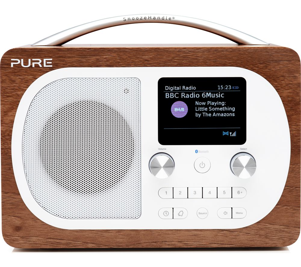 buy pure evoke h4 portable dab fm bluetooth clock radio walnut free delivery currys. Black Bedroom Furniture Sets. Home Design Ideas
