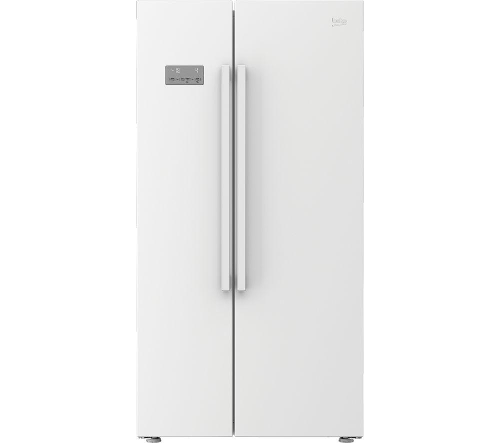 Image of BEKO ASL141W American-Style Fridge Freezer - White, White