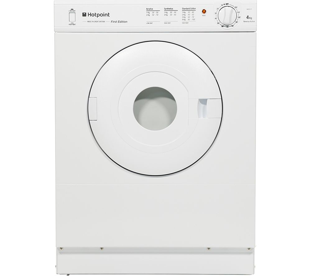 HOTPOINT V4D01P Vented Tumble Dryer - White + SISML21011P Slimline Dishwasher - White