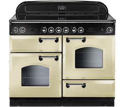 RANGEMASTER Classic 110 Electric Ceramic Range Cooker - Cream & Chrome
