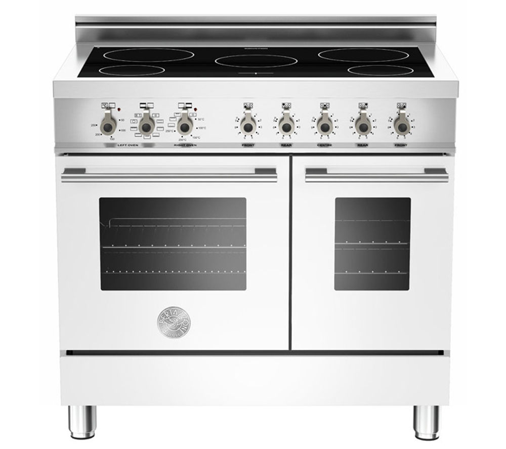 BERTAZZONI Professional 90 W90INDMFEBI Electric Induction Range Cooker - Pure White