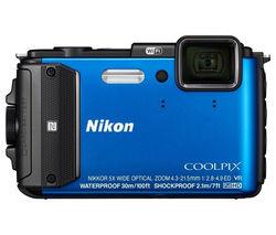 NIKON COOLPIX AW130 Tough Compact Camera - Blue