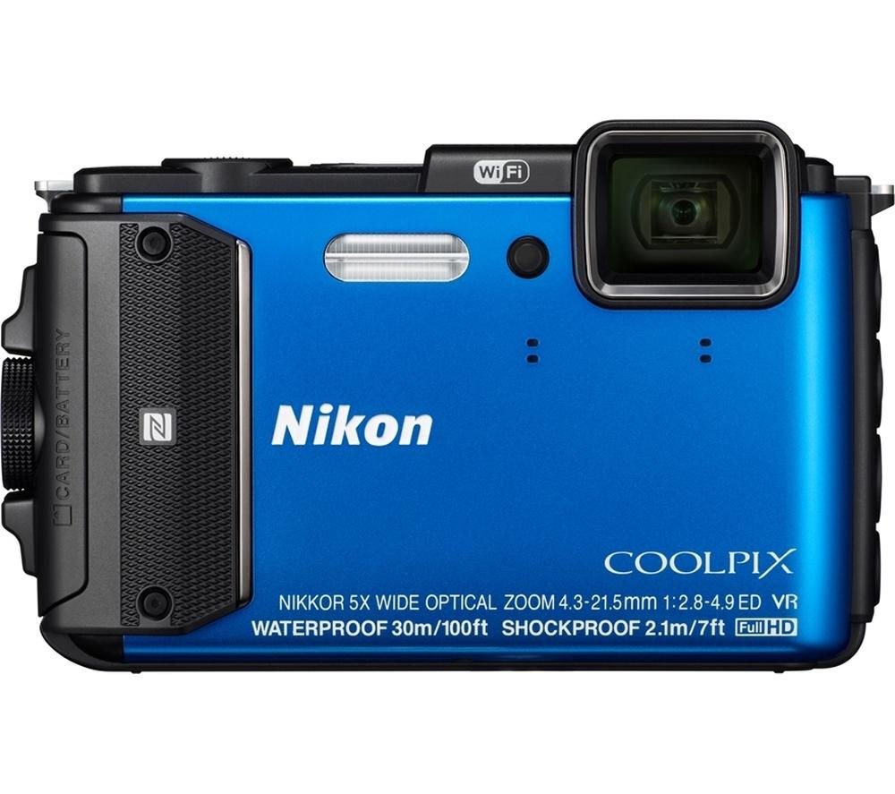 NIKON COOLPIX AW130 Tough Digital Camera - Blue 10120542
