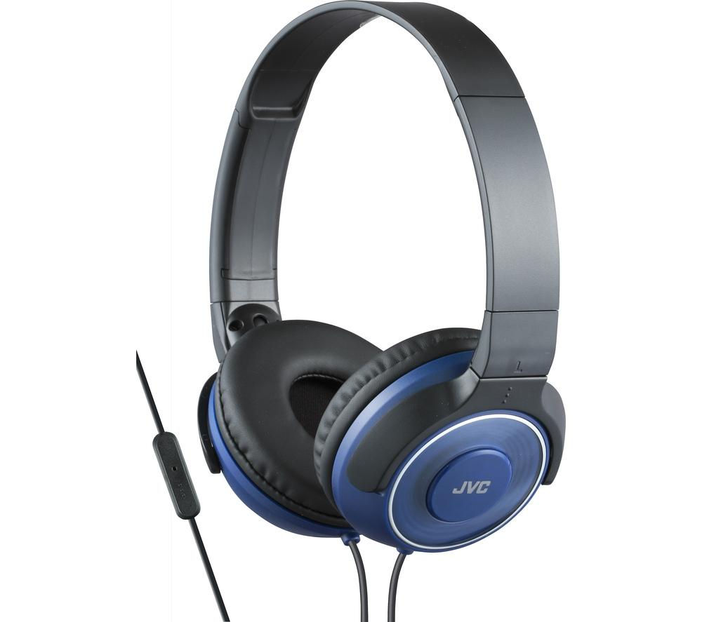 Click to view more of JVC  HA-SR225-A-E Headphones - Blue, Blue