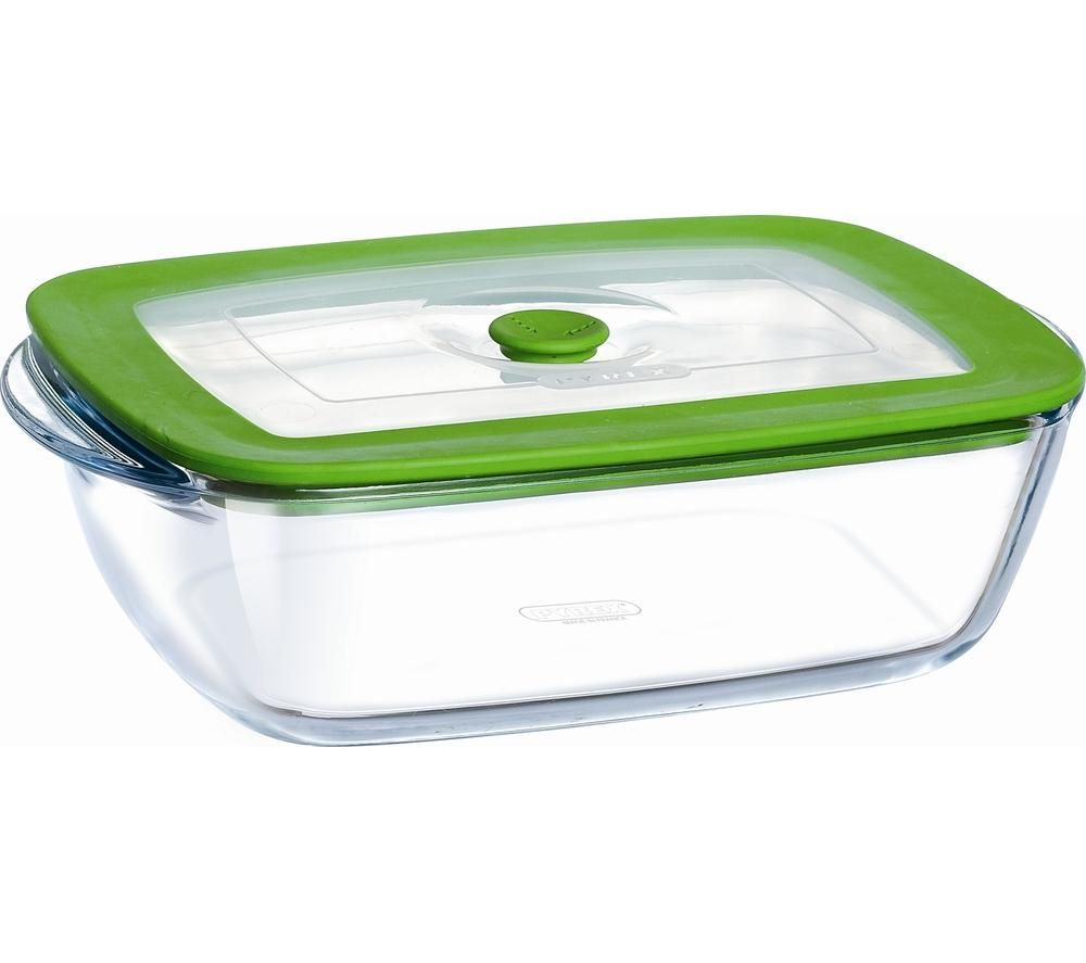 buy pyrex square 0 3 litre dish with lid clear free delivery currys. Black Bedroom Furniture Sets. Home Design Ideas