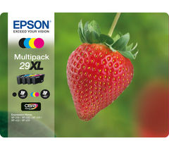EPSON Stawberry 29 XL Cyan, Magenta, Yellow & Black Ink Cartridges - Multipack