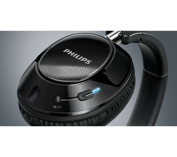 Image of PHILIPS SHB9850NC/00 Wireless Bluetooth Noise-Cancelling Headphones - Black
