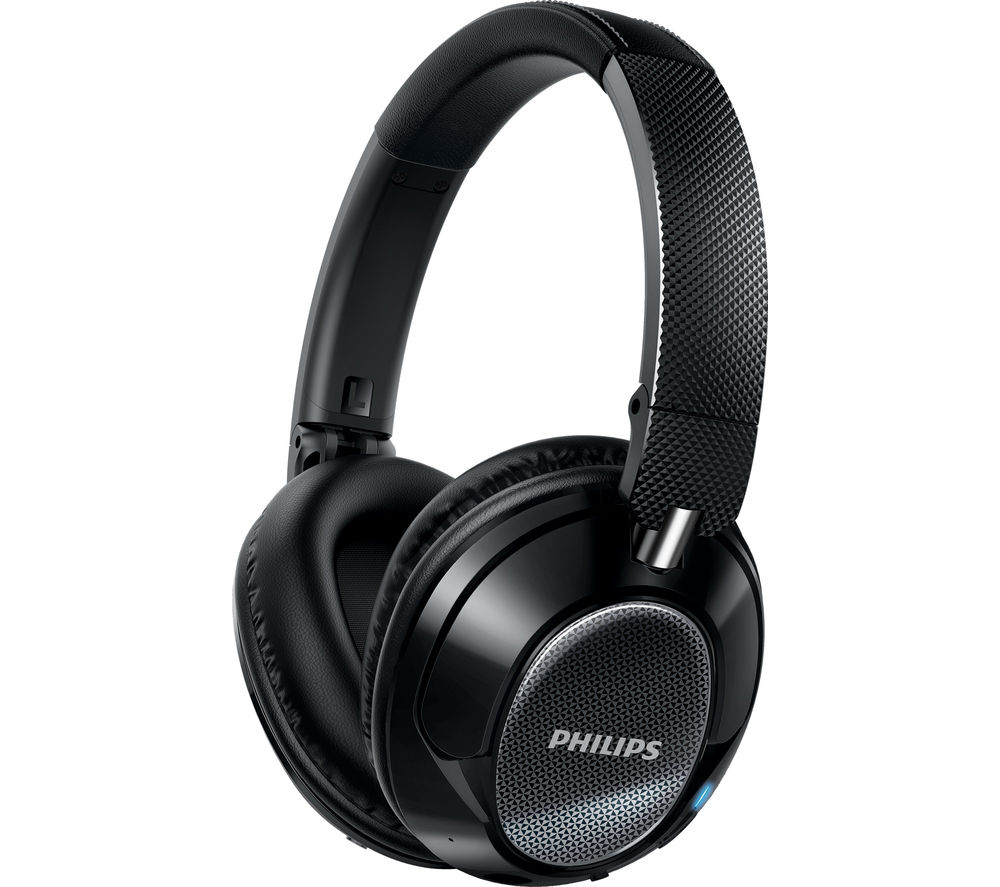 PHILIPS SHB9850NC/00 Wireless Bluetooth Noise-Cancelling Headphones - Black