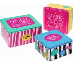 HAPPY JACKSON Square Cake Tins - Set of 3
