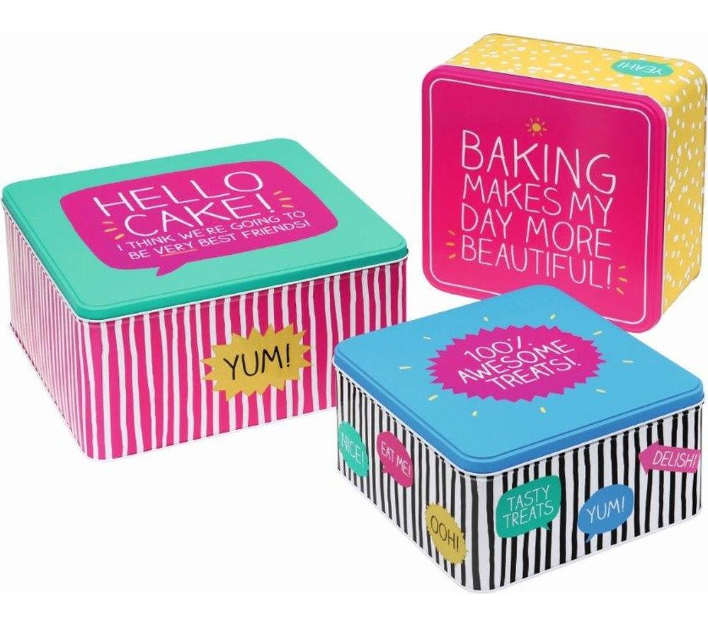 HAPPY JACKSON  Square Cake Tins  Set of 3