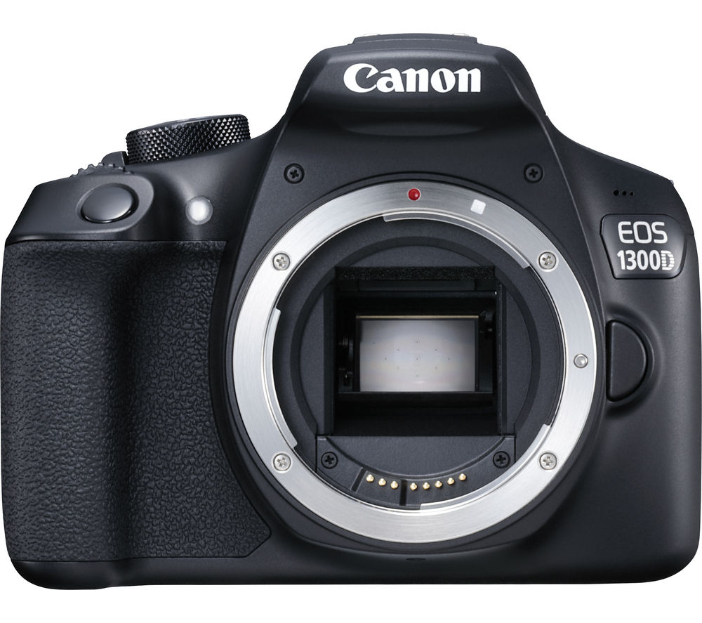 Image of CANON EOS 1300D DSLR Camera - Black, Body Only, Black