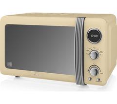 SWAN SM22030CN Solo Microwave - Cream