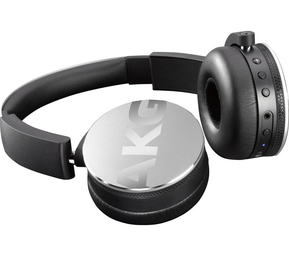 AKG Y50BT Wireless Bluetooth Headphones - Silver