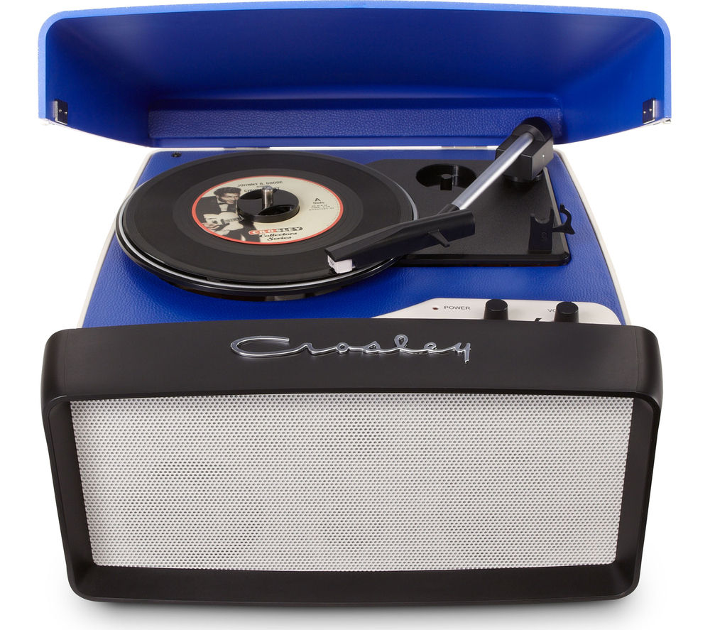 Image of CROSLEY Collegiate Portable USB Turntable - Blue, Blue