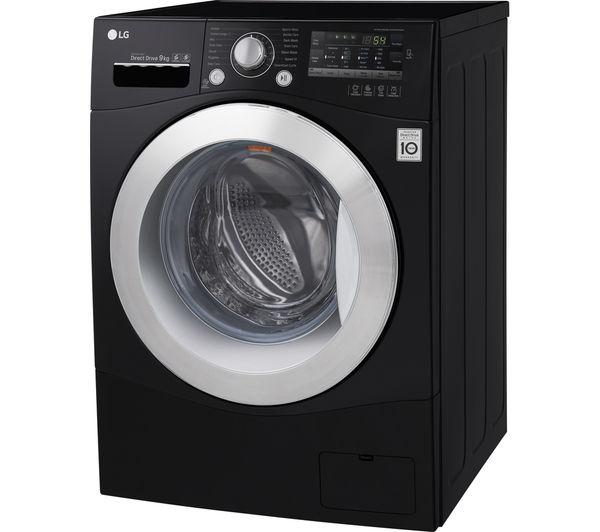 lg black washing machine