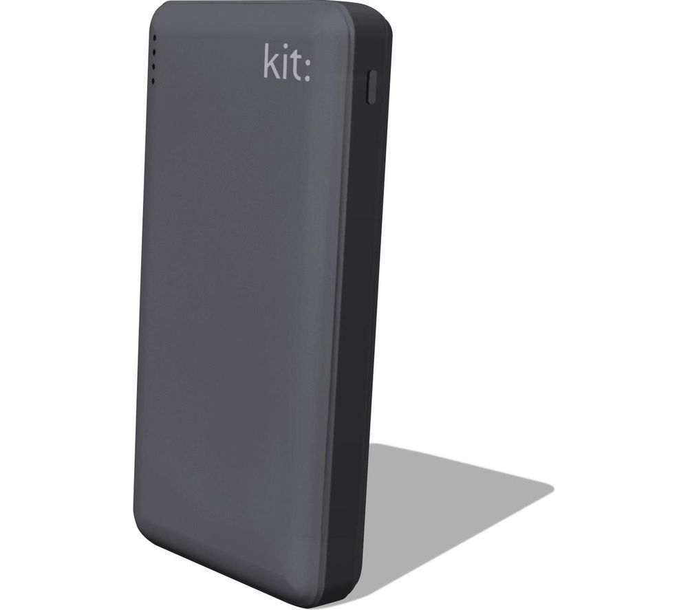 KIT FRESH 12000 mAh Portable Power Bank - Grey