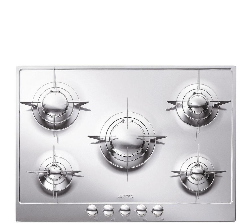 Image of SMEG P705ES Gas Hob - Stainless Steel, Stainless Steel