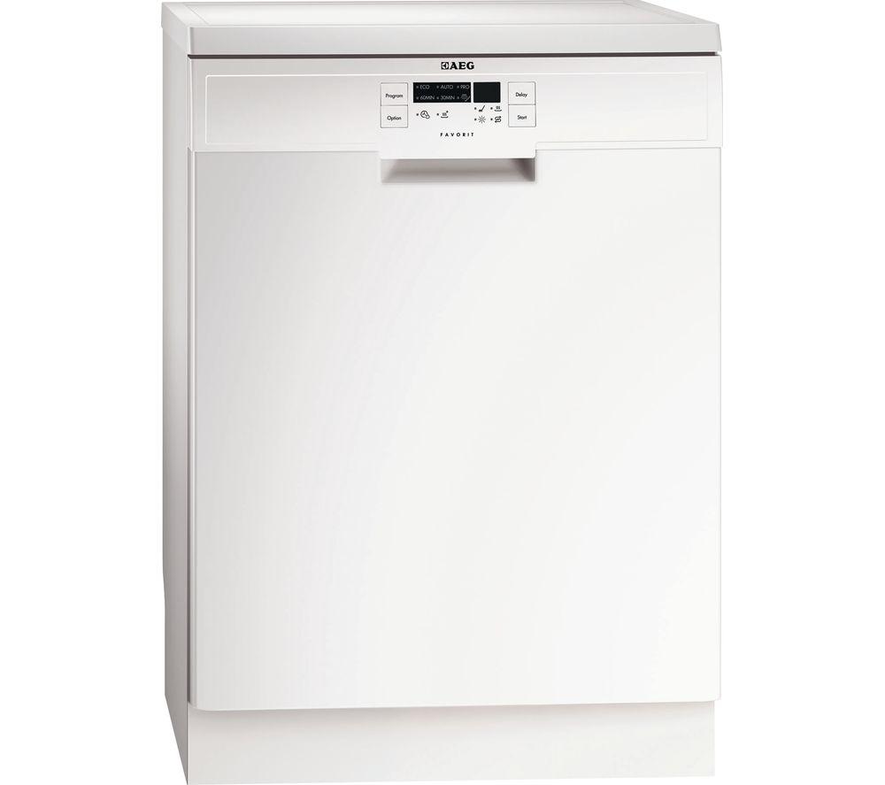 AEG  F56312W0 Fullsize Dishwasher  White White