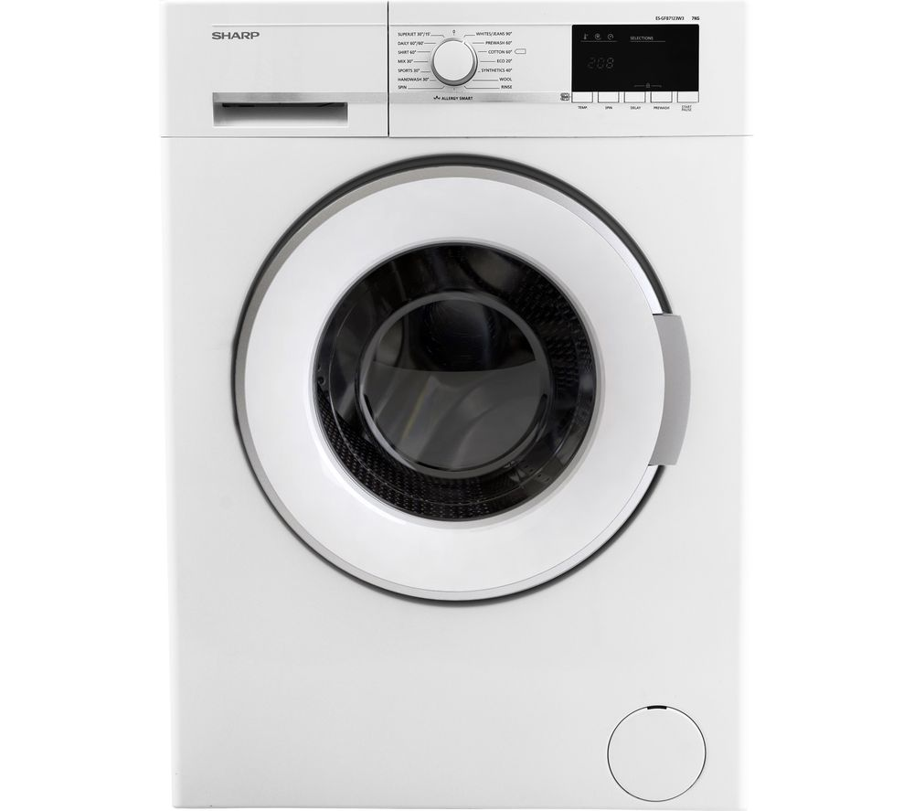 Image of SHARP ES-GFB7123W3 Washing Machine - White, White