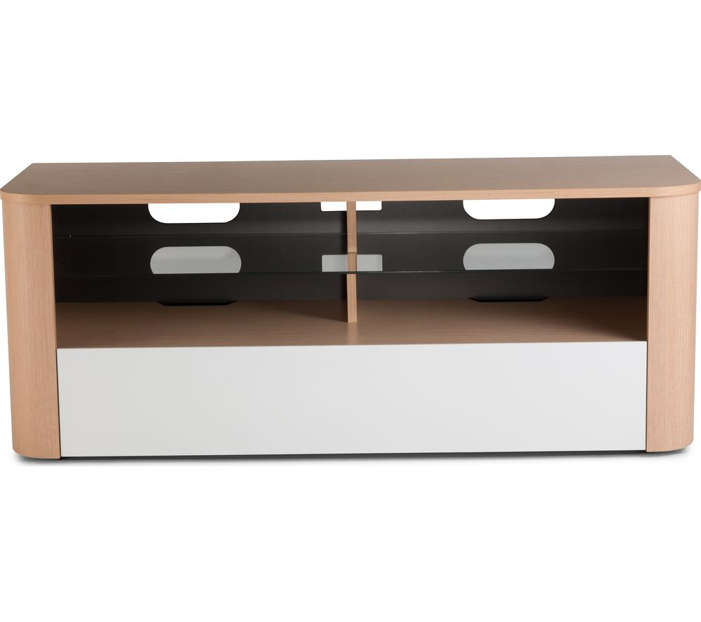 ALPHASON  Hugo TV Stand  Light Oak & White White