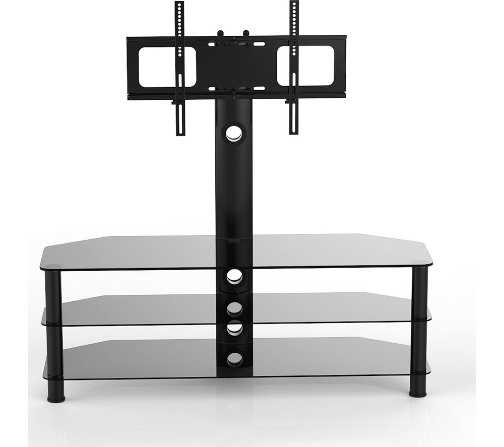 VIVANCO Brisa 1200 TV Stand with Bracket - Black