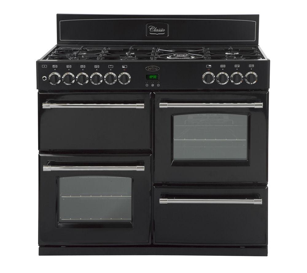 BELLING Classic 110DFT Dual Fuel Range Cooker - Black