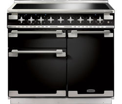 RANGEMASTER Elise 100 Electric Induction Range Cooker - Black & Chrome