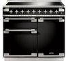 RANGEMASTER Elise 100 Electric Induction Range Cooker - Black & Chrome
