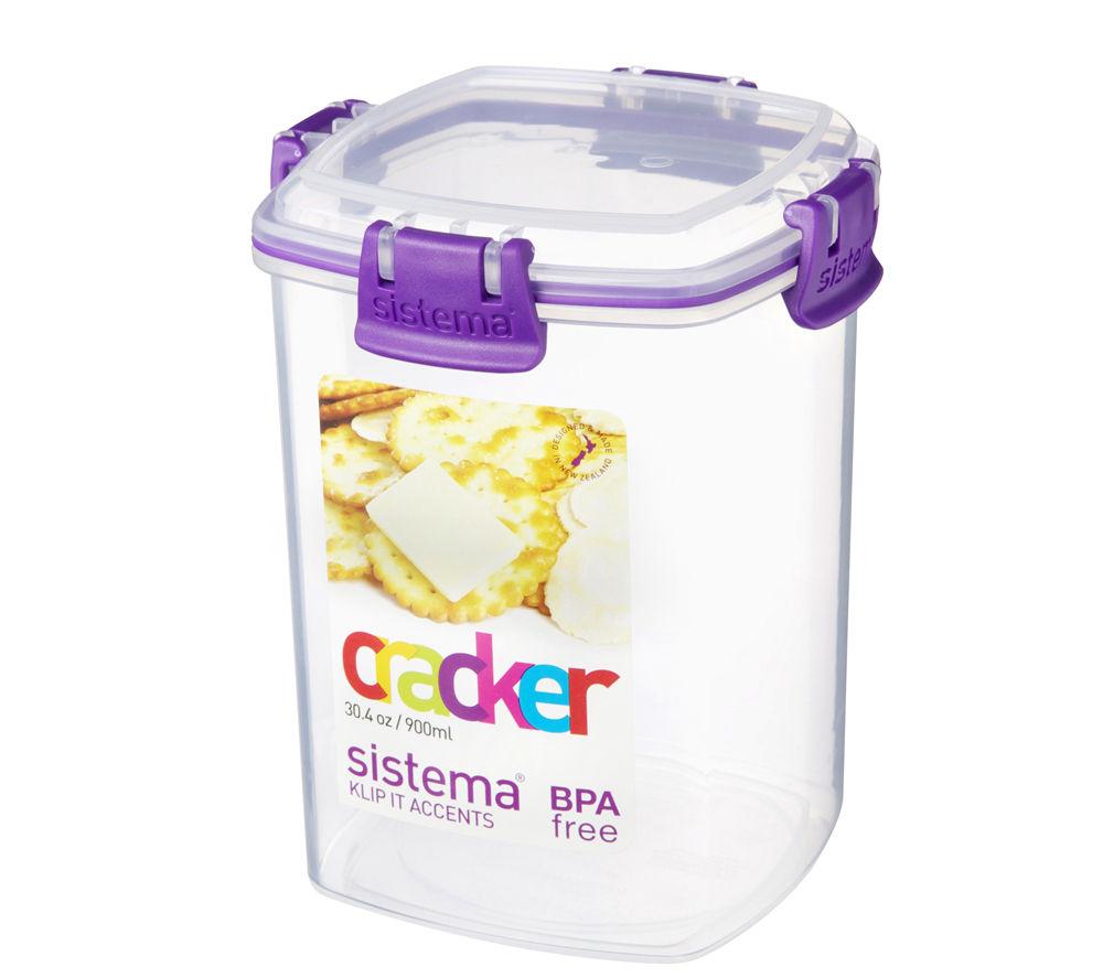 SISTEMA Rectangular 0.9-litre Cracker Box