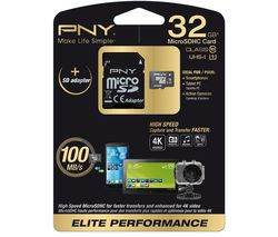 PNY Elite Performance Class 10 microSD Memory Card - 32 GB