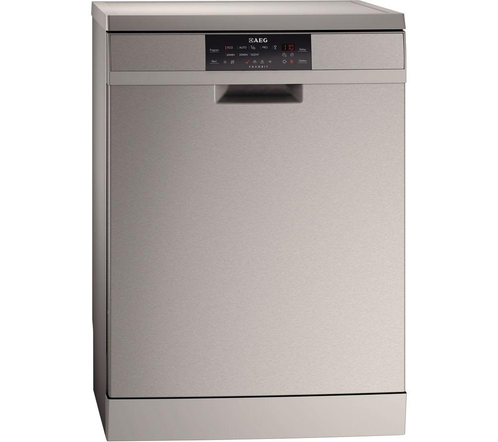 AEG F88709M0P Full-Size Dishwasher - Stainless Steel