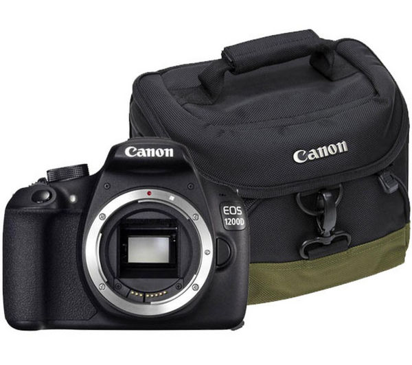 Canon EOS 1200D DSLR Camera - Body Only with 100EG Deluxe Gadget DSLR Camera Bag