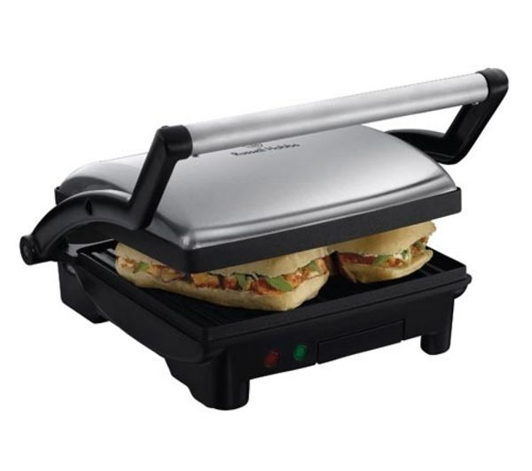 RUSSELL HOBBS  17888 3in1 Panini Press Griddle & Health Grill  Silver Silver