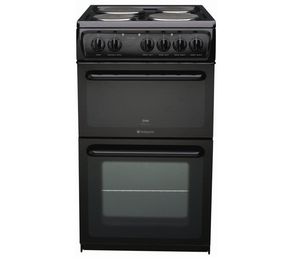 HOTPOINT HW170EKS Electric Solid Plate Cooker - Black