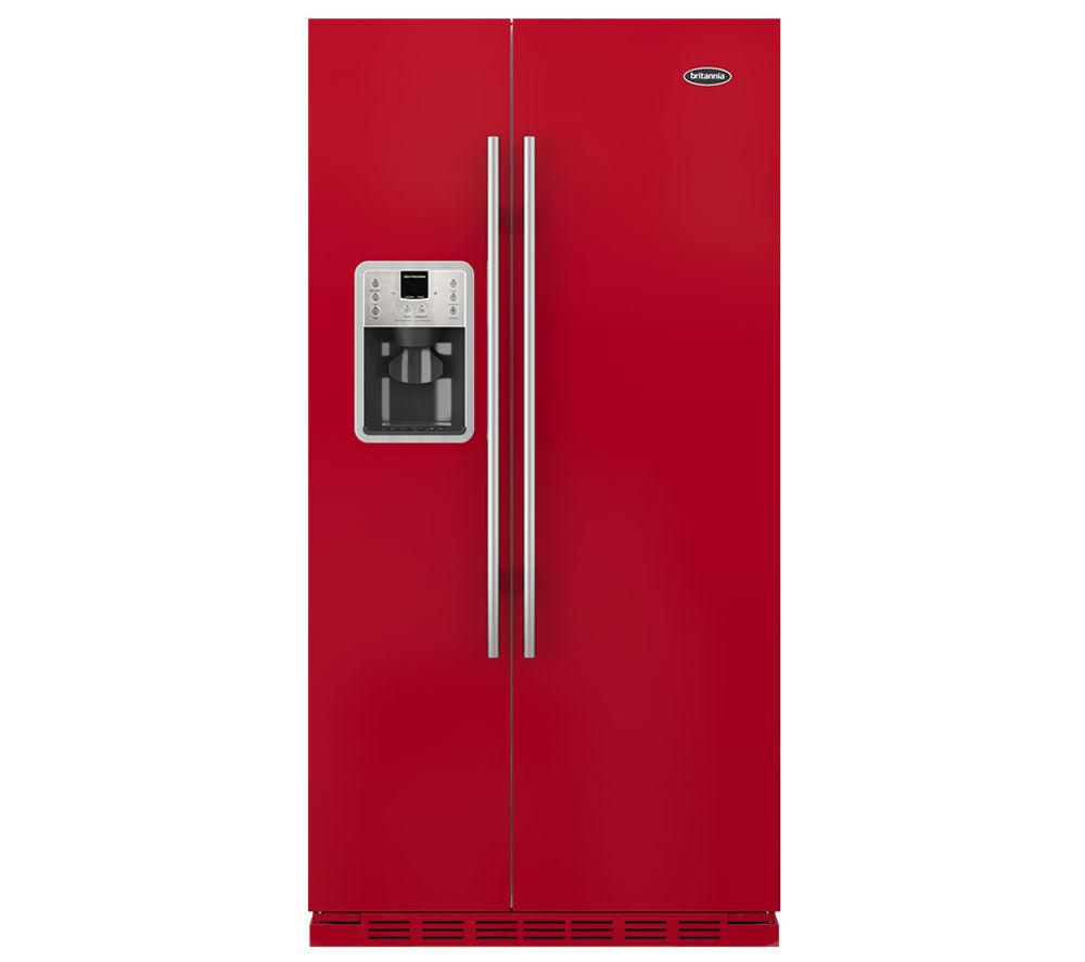 BRITANNIA Montana American-Style Fridge Freezer - Red