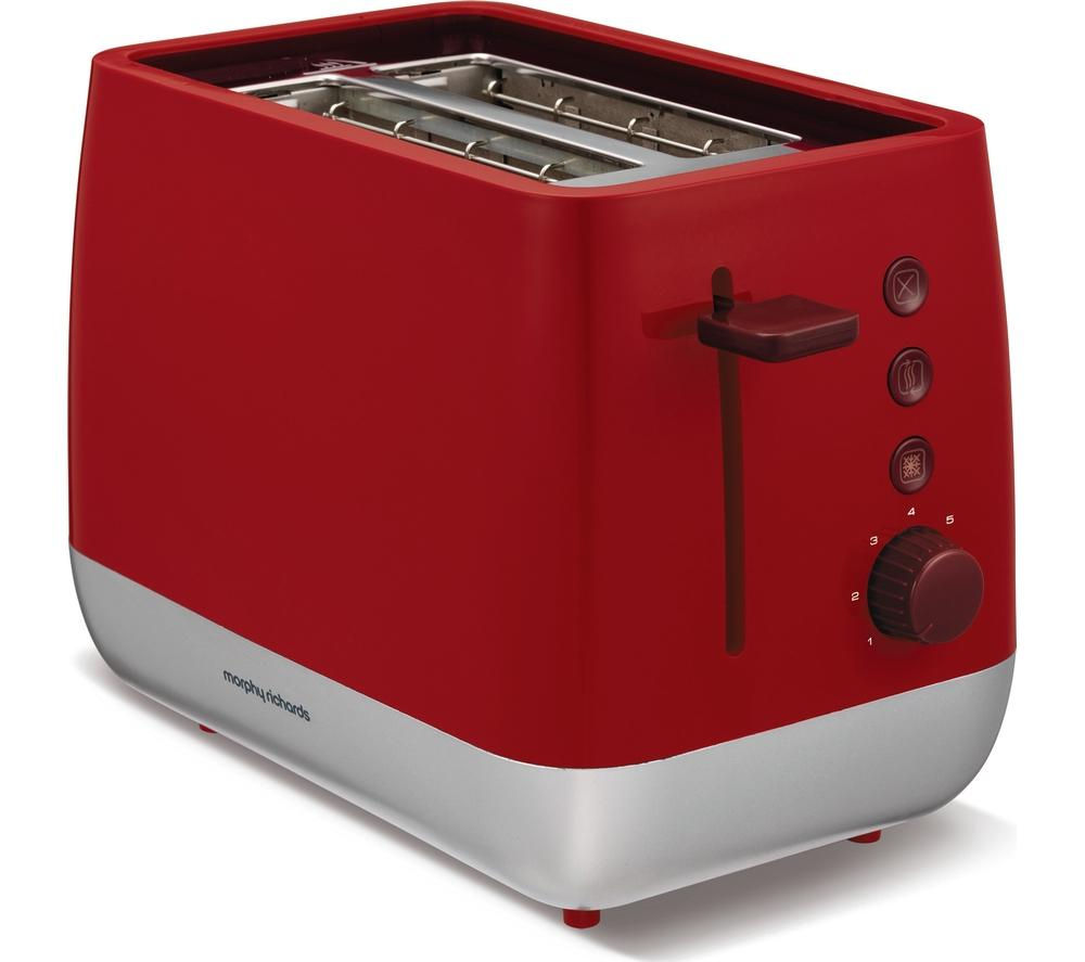 buy morphy richards chroma 221109 2 slice toaster red. Black Bedroom Furniture Sets. Home Design Ideas