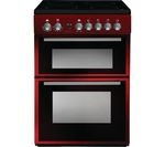 INDESIT DD60C2CR 60 cm Electric Ceramic Cooker - Red