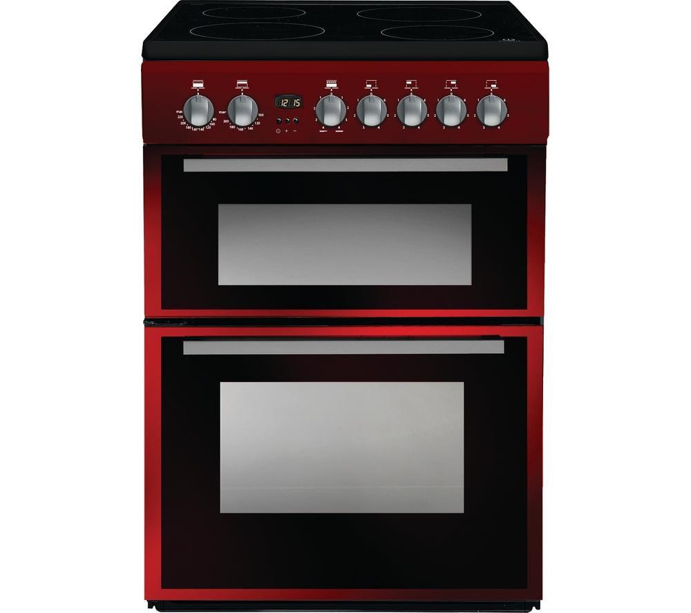INDESIT DD60C2CR 60 cm Electric Ceramic Cooker - Red