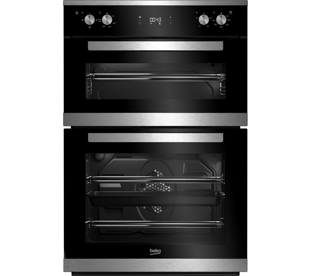 BEKO Select BXTF25300X Electric Built-under Double Oven - Stainless Steel