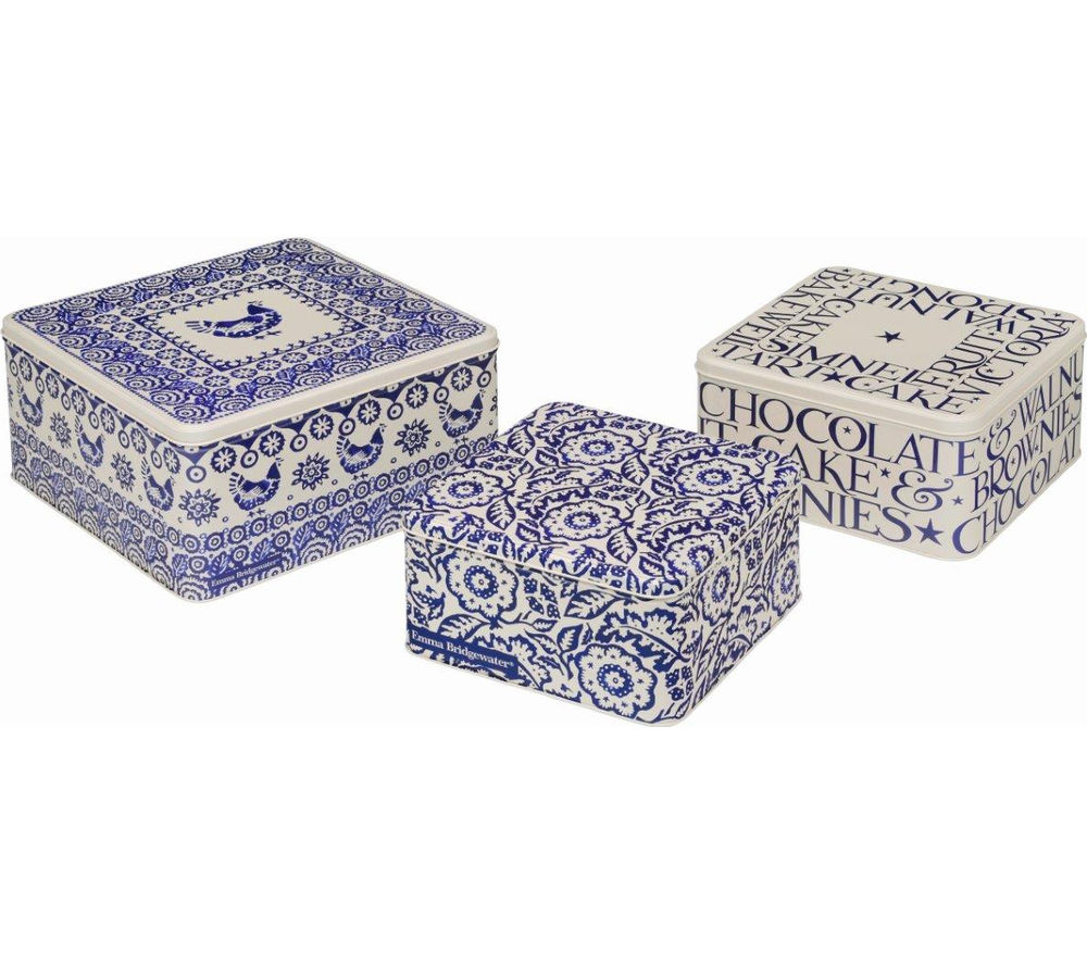 BLUE HEN By Emma Bridgewater Square Cake Tins - Set of 3