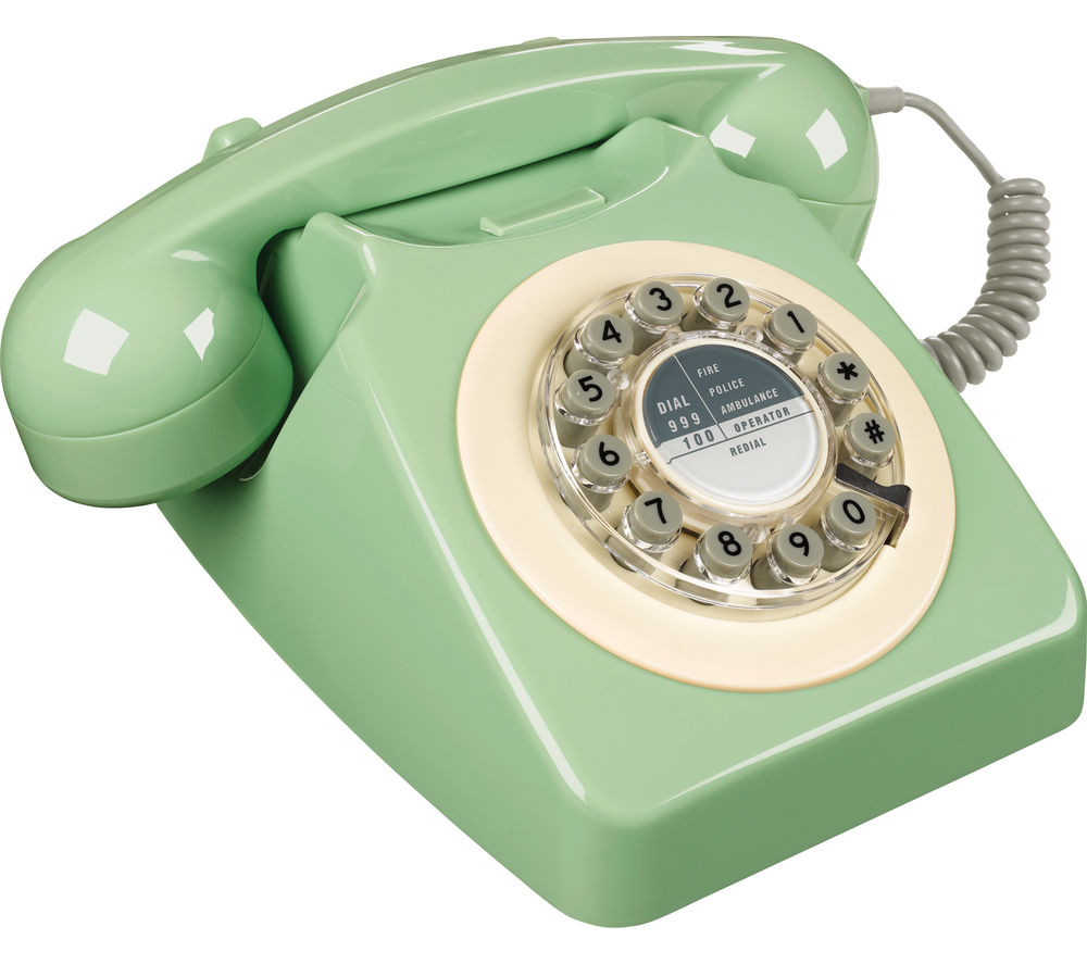 WILD & WOLF 746 Corded Phone - Swedish Green