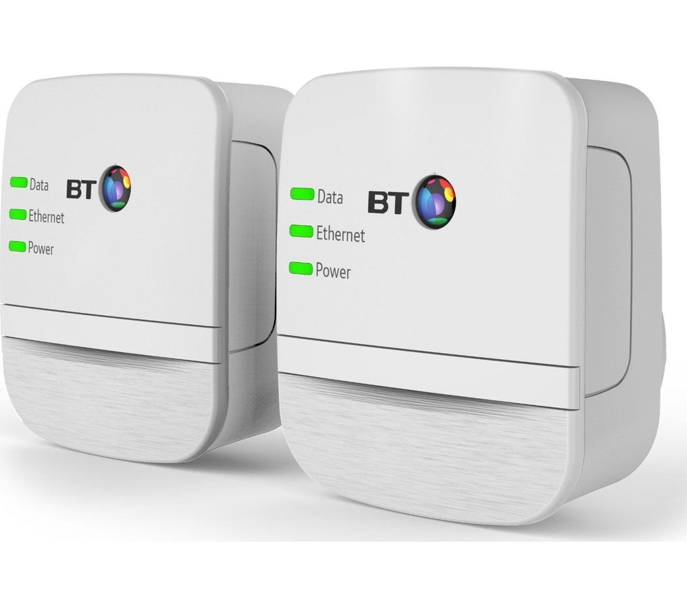BT Broadband Extender 600 Powerline Adapter Kit - Twin Pack